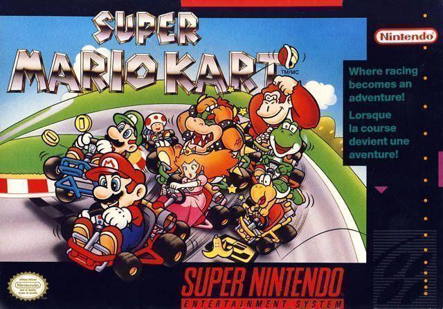 Super Mario Kart (USA) Game Cover