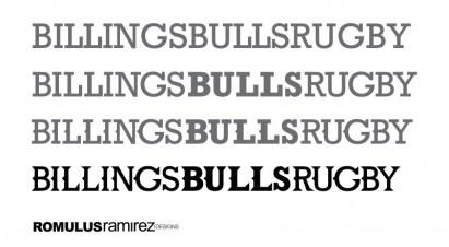 Billings Bulls - Typography