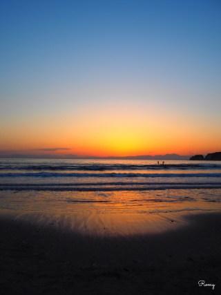 鎌倉材木座海岸の夕焼け
