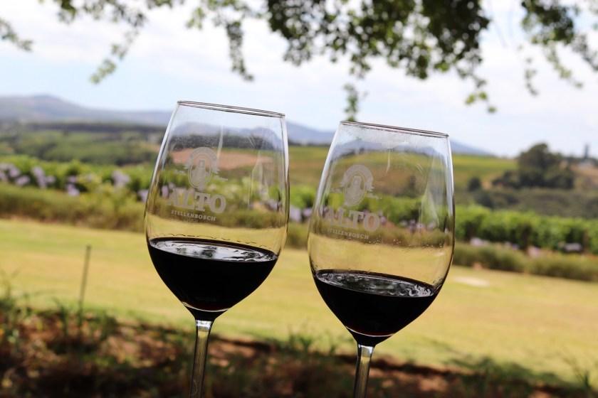Wijn proeven in Stellenbosch