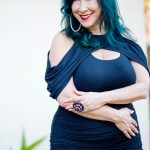 40 Plus Fashion: A Slimming Cold Shoulder Dress for Fall