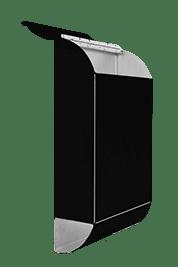 Black mailbox side
