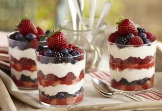 Sütemény,torta töltelékek - poharas krémek