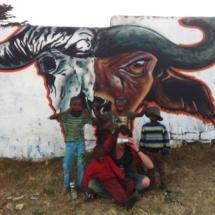 Spray Art for Township Soweto, joburg South Africa