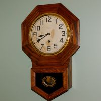 "Waterbury ""Arion"" Small Octagon Short Drop wall clock"