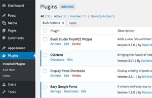 blog wordpress plugins