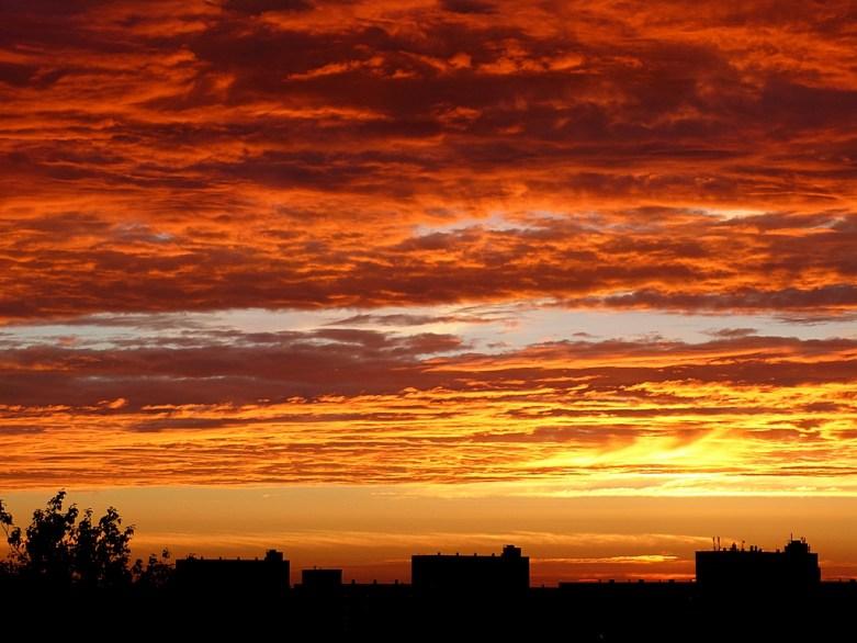 Sunset in Schiedam
