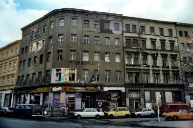 Gekraakt pand in de wijk Kreuzberg.