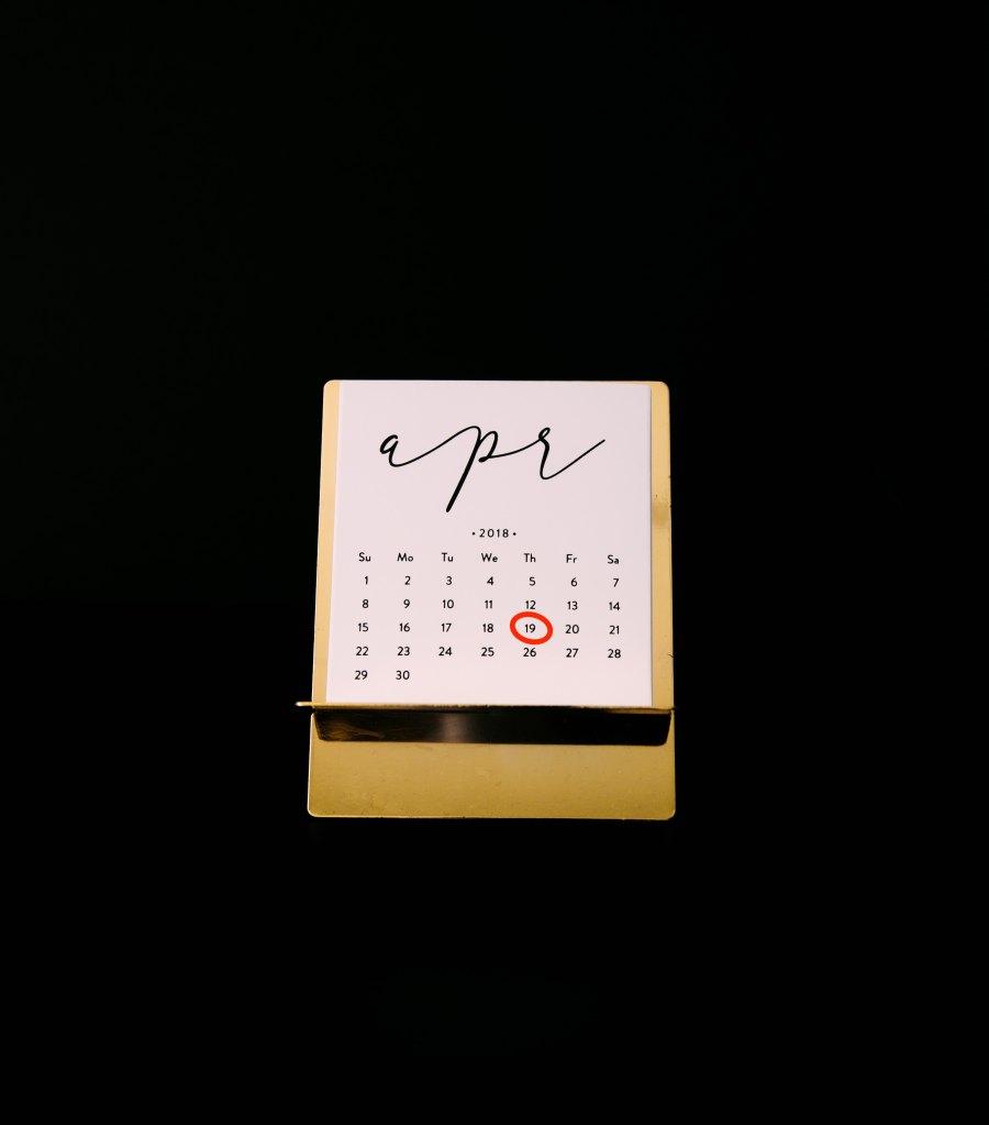 circled date