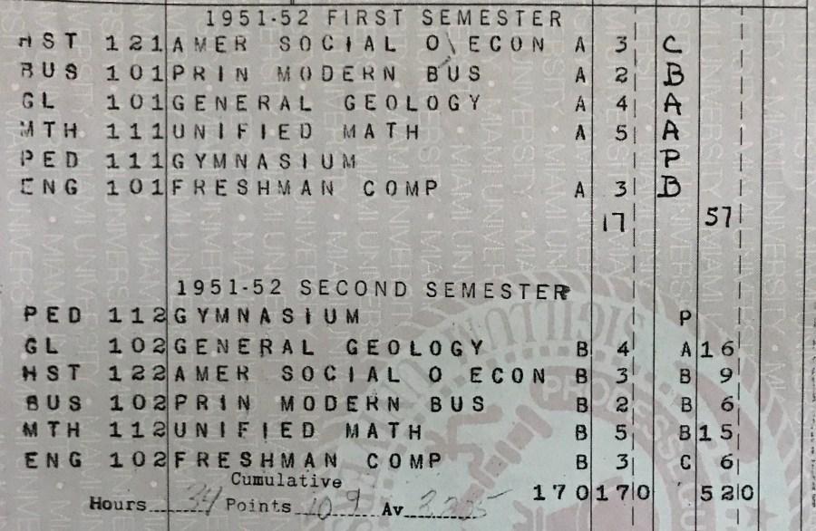 transcripts-freshman year