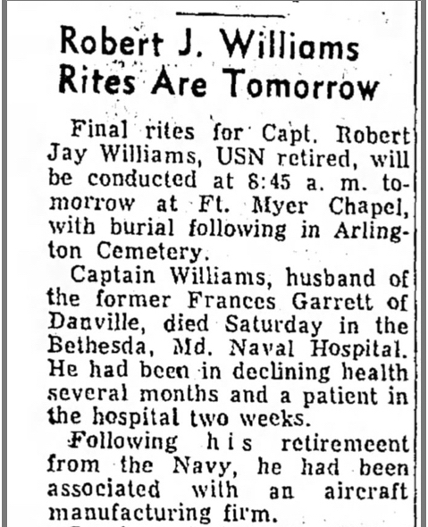 Robert Jay Williams burial
