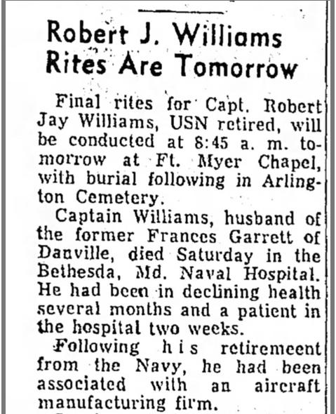 Robert Jay Williams burial