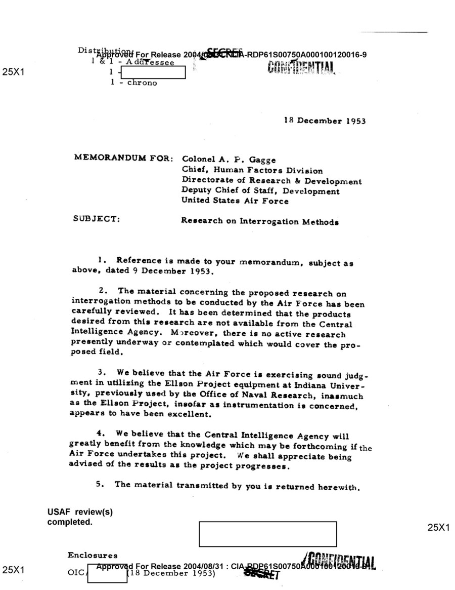 USAF Research on Interrogation Methods -- Dec. 18, 1953 copy