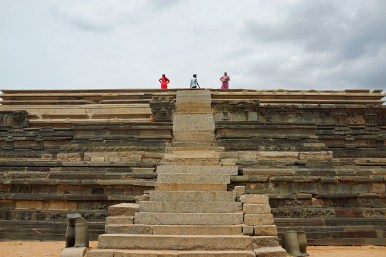 Mahanavami Dibba, where the kings of the Vijayanagara Empire once sat upon their gem studded golden throne