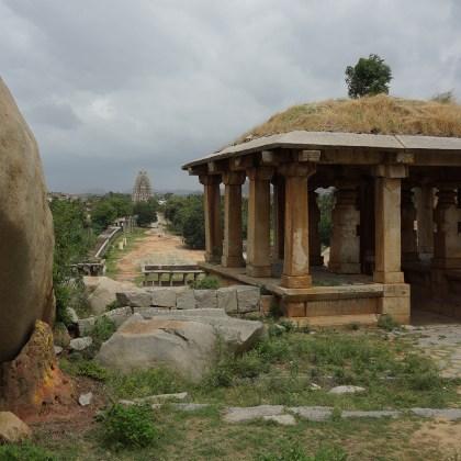 Looking over Hampi and Virupaksha Temple