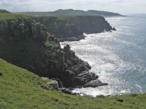 Dolerite cliffs at Morgan Bay