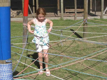 In the rope maze