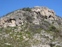 Coastal limestone hills