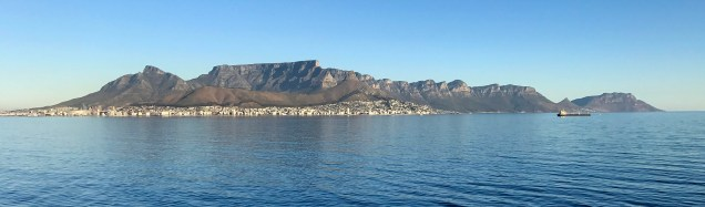 Table Mountain and the Twelve Apostles as we left