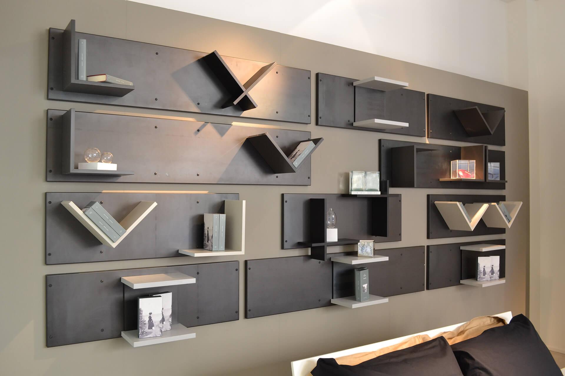 Prova con mensole, librerie e scaffali per una camera da letto funzionale e originale! Magnetika Bedroom Interior Design Furniture Ronda Design