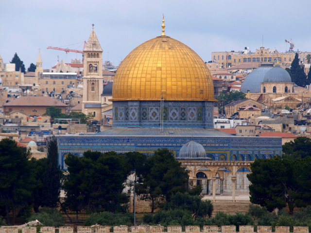 Dome of the Rock, Islamic mosque at the traditional site of Abraham's intended sacrifice of Isaac