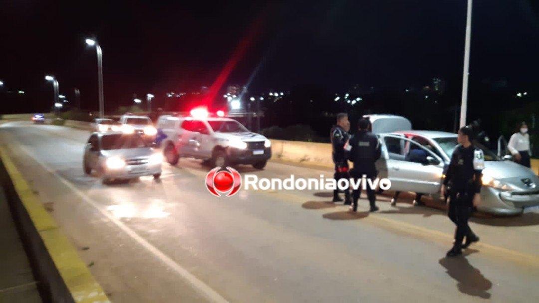 EMBRIAGADO: Após tentar matar marido da ex, homem foge da PM e bate carro na ponte do rio Madeira