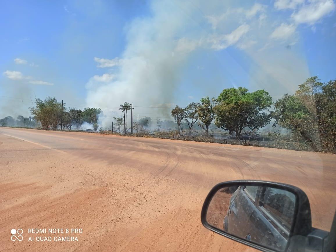 PERIGO: Área de nascentes que abastecem Porto Velho é alvo de incêndio