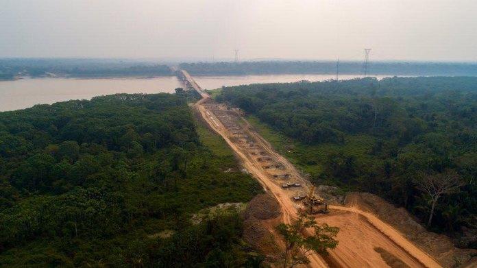 QUASE PRONTA: DNIT divulga novas imagens da fase final de construção da ponte do rio Madeira