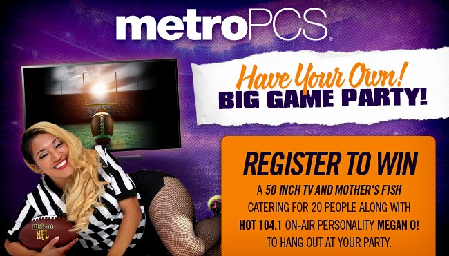 Metro PCS Big Game Party Sweepstakes 2017