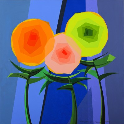 "Three Flowers<span class=""reddot""></span>"
