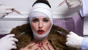 Luxurious woman and plastic surgery moment