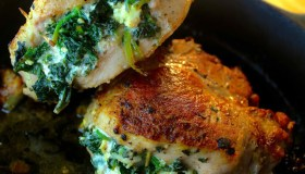 Spinach & Feta Stuffed Pork Chops
