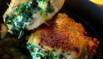 Spinach & Feta Stuffed Pork Chops