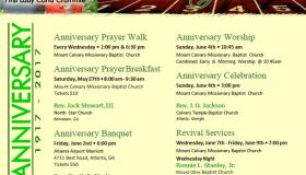 Mount Calvary 100th Anniversary Events