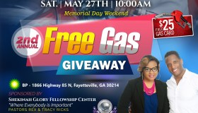 Shekinah Glory Fellowship Center Free Gas Giveaway