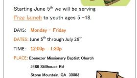 Ebenezer Missionary Baptist Church Free Lunch