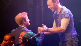 Prince Harry With Coldplay