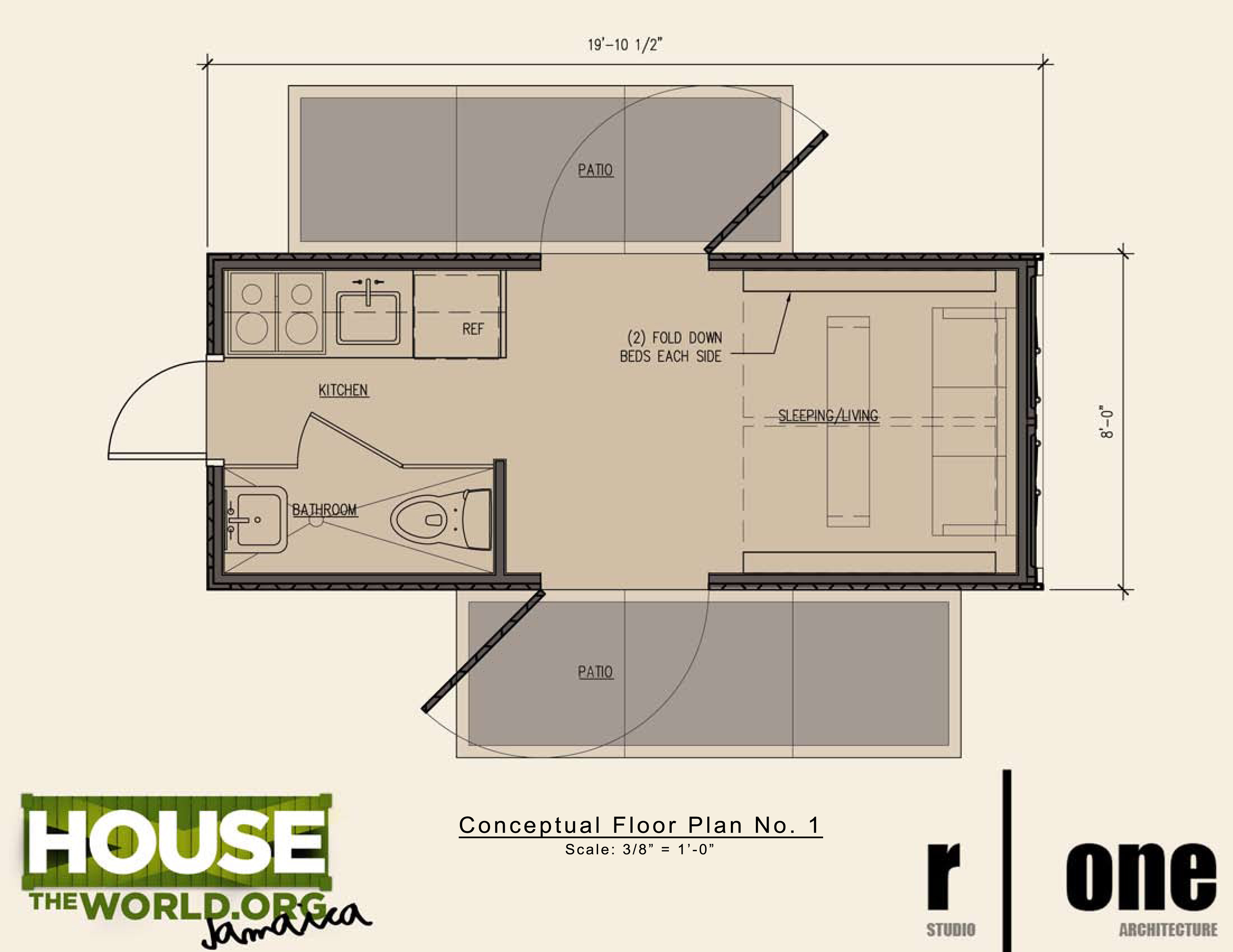 Best Kitchen Gallery: 2x20 Foot Container House V1 View From Above Shipping Container of Container Home Plans  on rachelxblog.com