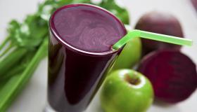 Beetroot, apple and celery juice