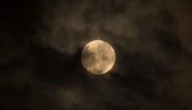 Penumbral lunar eclipse visible at night in Pekanbaru.This...