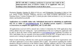 Harris County Public Notice