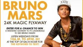BRUNO MARS 24K MAGIC FLYAWAY TEXT-TO-WIN SWEEPSTAKES