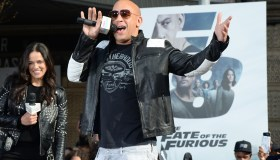 Vin Diesel And Michelle Rodriguez Visit Washington Heights On Behalf Of 'The Fate Of The Furious'