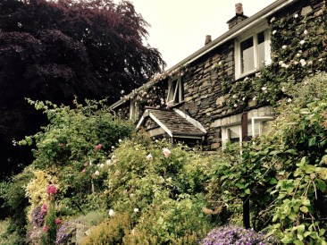Typical lakeland house and garden.