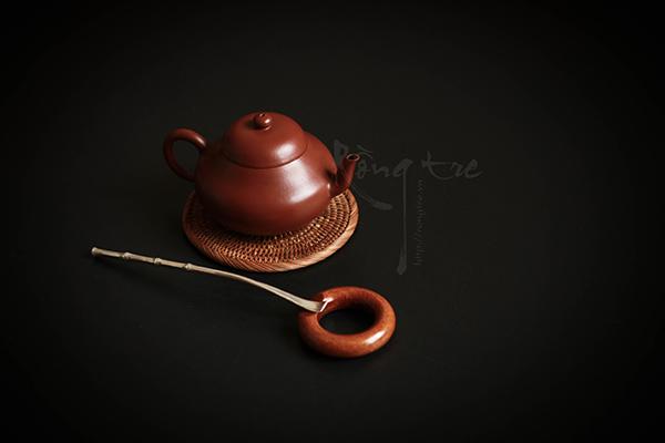 Thìa xúc trà hoặc khơi trà bạc mô phỏng đoạn tre BA-GT-2-1