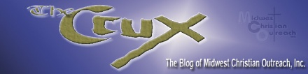 Midwest Christian Outreach, Inc.'s Crux blog logo