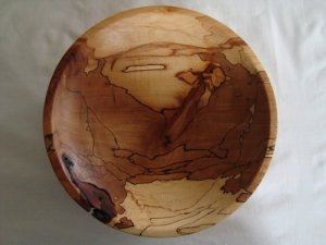 Spalted beech bowl. Spalted wood