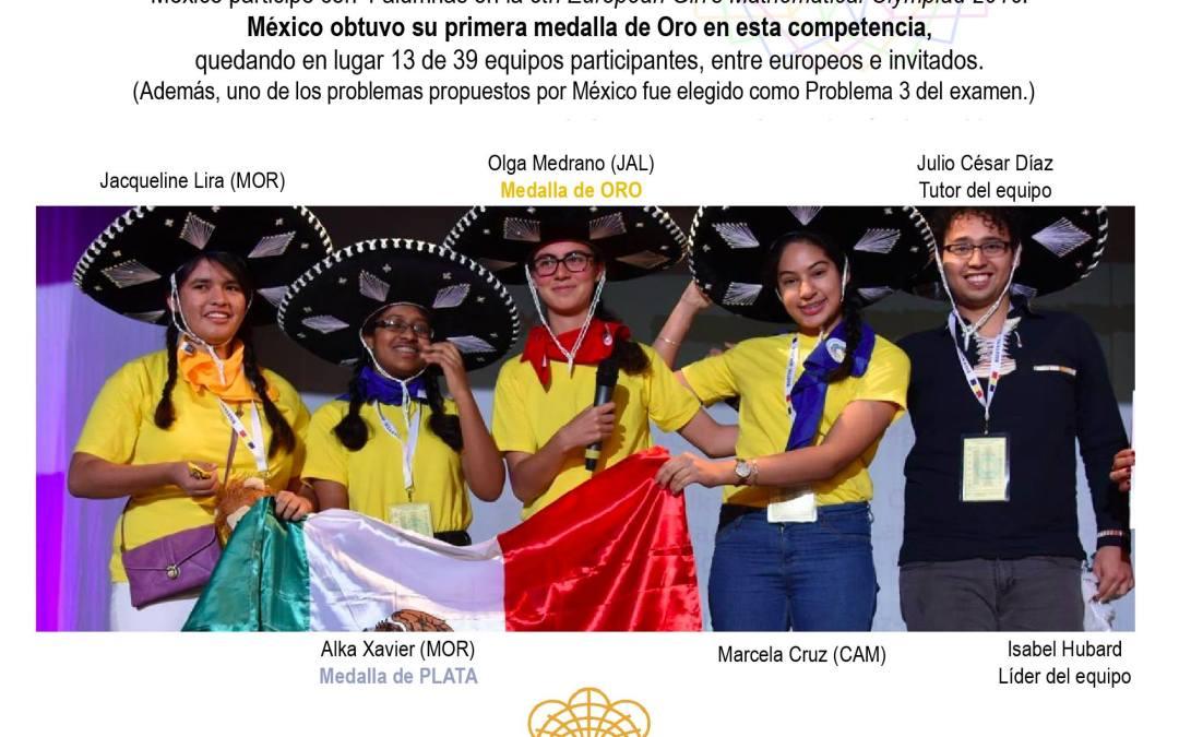 Mexicanas ganan oro y plata en olimpiada europea de matemáticas