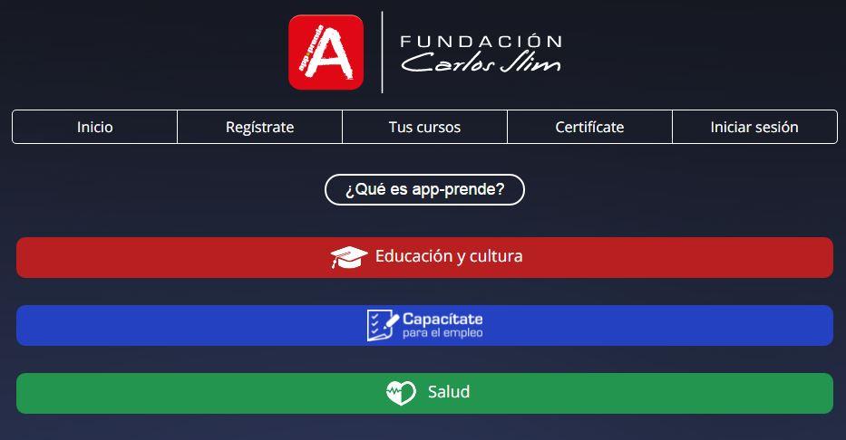 App-Prende, una plataforma de aprendizaje en línea gratuita