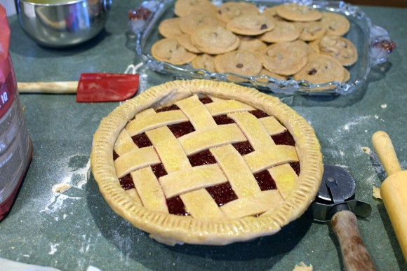 Triple Berry Pie Before Baking